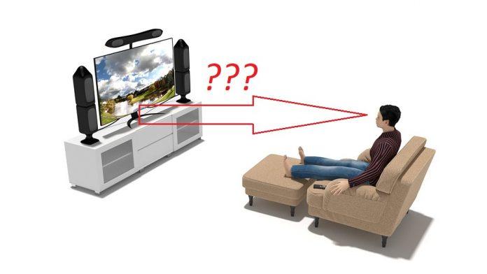 от какво разстояние се гледа телевизор според размера